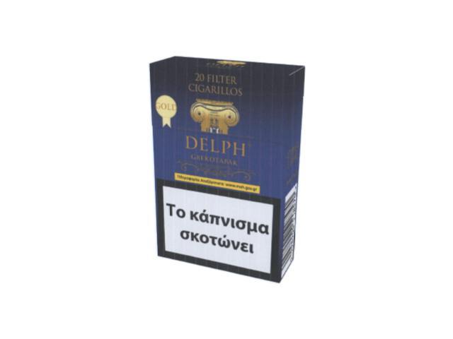11619 - Cigarillos DELPH GREKOTABAK μπλε GOLD Filter 20