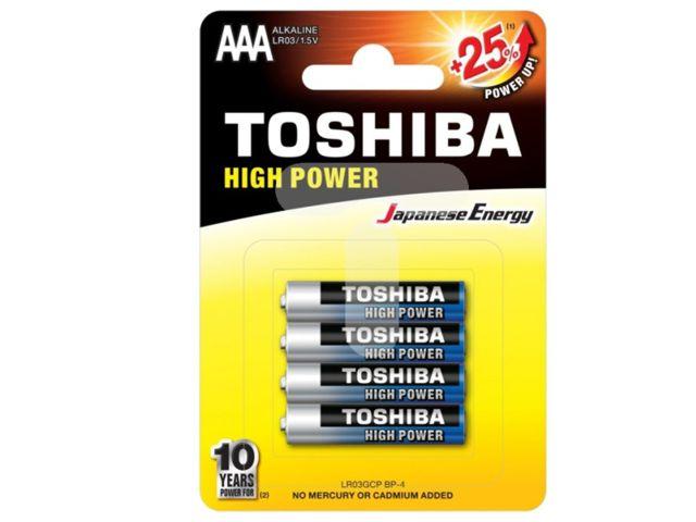 TOSHIBA AAA HIGH POWER +25% ΑΛΚΑΛΙΚΕΣ (4 ΜΠΑΤΑΡΙΕΣ)