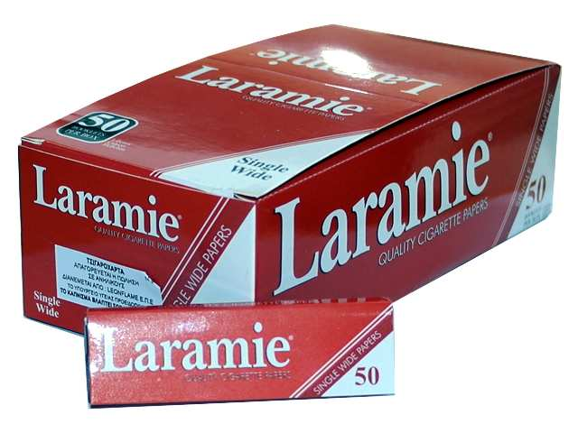 2319 - Χαρτάκια στριφτού Laramie Κόκκινα κουτί με 50 τσιγαρόχαρτα