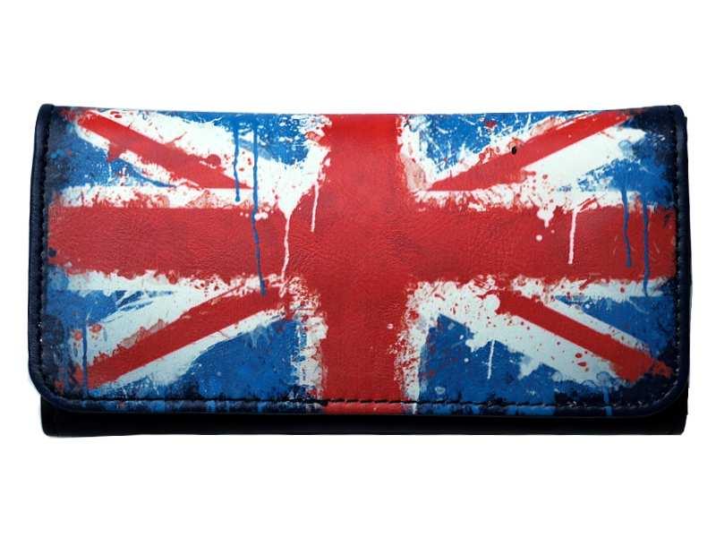 Καπνοθήκη ENGLISH FLAG με latex για άδειασμα καπνού και για σακουλάκι καπνού