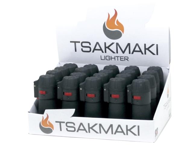 11879 - Αντιανεμικός Αναπτήρας TSAKMAKI JET FLAME 708 ΜΑΥΡΟΣ ΒΑΡΕΛΑΚΙ κουτί των 20 τεμ