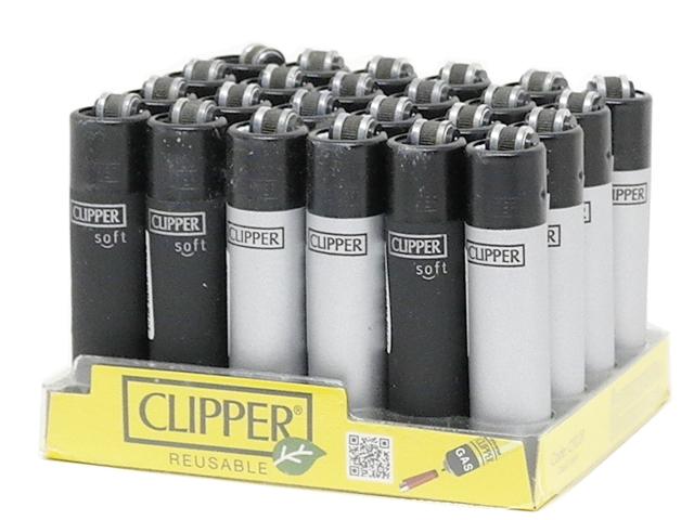 11930 - CLIPPER 104305535 MICRO BLACK SILVER METAL SMALL ΑΝΑΠΤΗΡΑΣ (κουτί 24 τεμ)