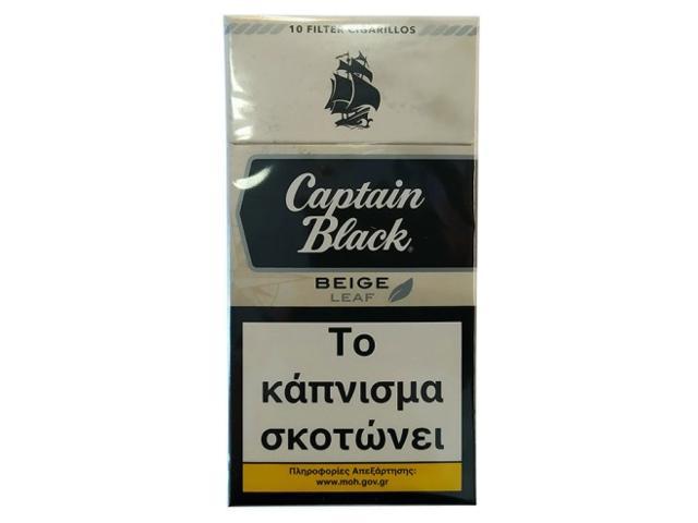 11940 - Captain Black BEIGE 10 Filter Cigarillos (Βανίλια)
