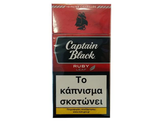 11941 - Captain Black Ruby 10 Filter Cigarillos (Κεράσι)