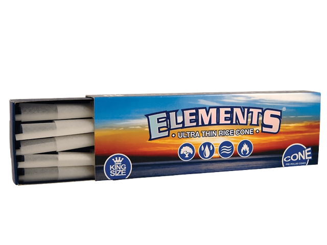 11949 - ELEMENTS ULTRA THIN RICE CONE KING SIZE 40 ΚΩΝΟΙ