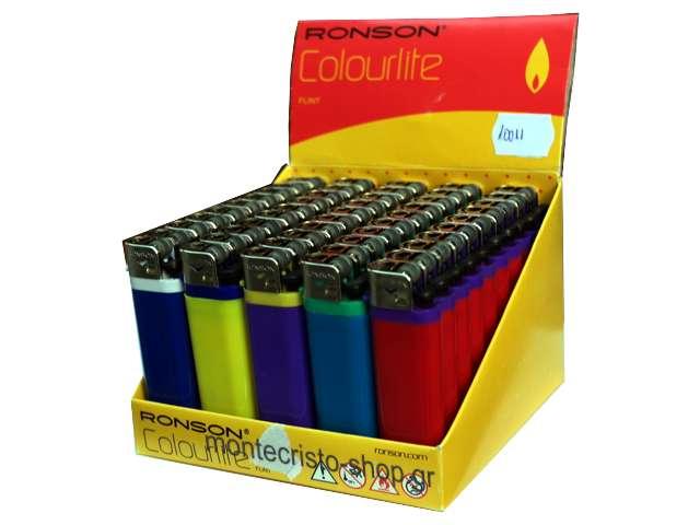 2531 - Αναπτήρας Ronson Colorlite 10011 πλαστικός (κουτί των 50, 0.26 ο ένας)