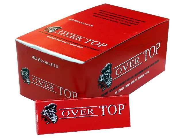 2566 - Χαρτάκια στριφτού Over Top κόκκινα (κουτί με 48 τσιγαρόχαρτα)