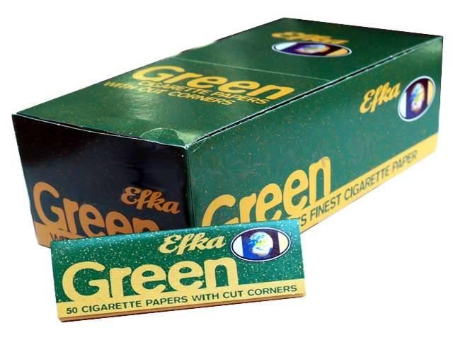 2572 - Χαρτάκια στριφτού Efka Green (Κουτί με 50 τσιγαρόχαρτα)