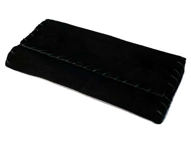 2608 - Καπνοθήκη δερμάτινη smoka 1600 σουέτ μαύρη πράσινη για σακουλάκι καπνού