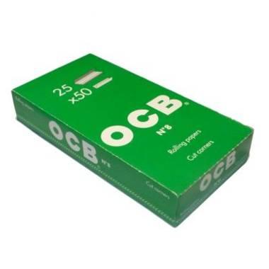 2614 - Χαρτάκια στριφτού OCB Πράσινο (κουτί με 25 τσιγαρόχαρτα των 50 φύλλων)