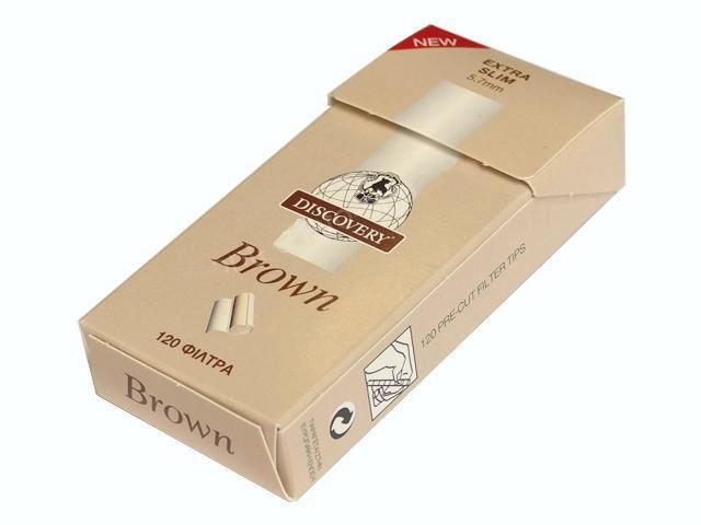 2700 - Φιλτράκια στριφτού DISCOVERY Brown Extra Slim 5.7mm