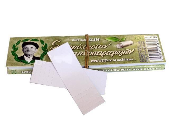 Χαρτάκια του παππού 47583 πράσινα King Size Slim και τζιβάνες