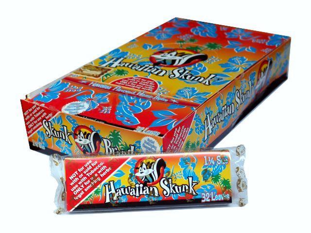 2753 - Κουτί με 24 αρωματικά χαρτάκια στριφτού Skunk Brand Hawaiian Skunk 1&1/4
