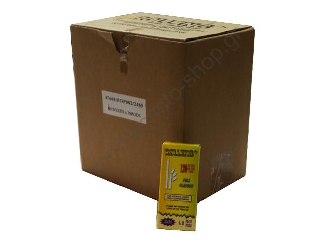 2918 - Κουτί με 60 φιλτράκια στριφτού Rolling 47608 Extra Slim 5.5mm 120 τεμάχια σε σελοφάν (τιμή 0.39 το ένα)