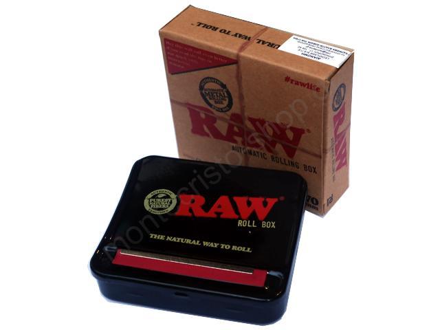 Ταμπακιέρα για στριφτό RAW Automatic Rolling Box 70mm (για κανονικά τσιγαρόχαρτα)