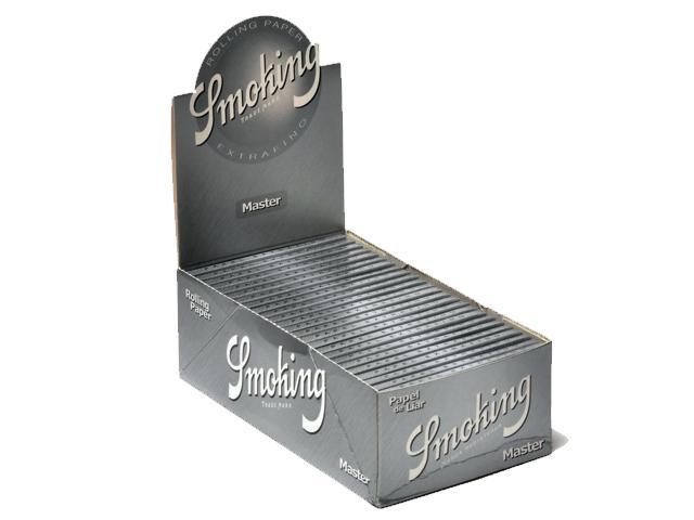3023 - Κουτί με 25 χαρτάκια στριφτού Smoking Master 1 1/4 μεσαία