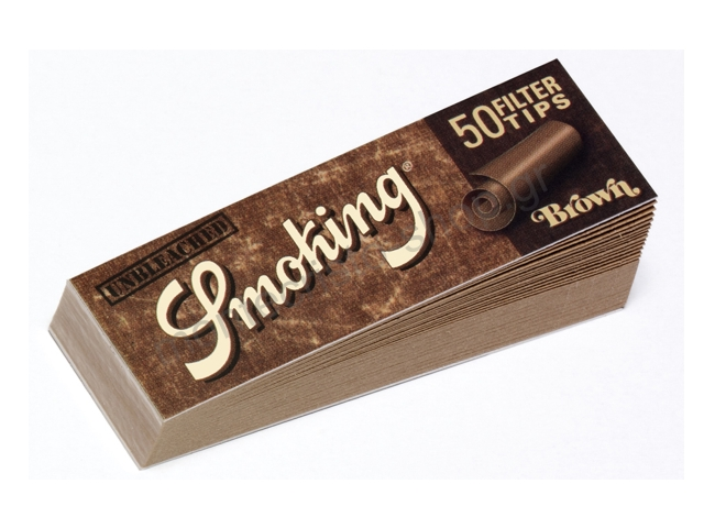 Τζιβάνες Smoking Brown tips ακατέργαστες unbleached