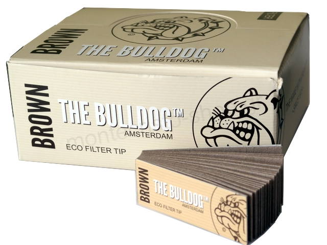 Κουτί με 50 Τζιβάνες Filter Tips THE BULLDOG AMSTERDAM Brown ECO