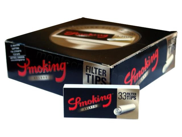 Κουτί με 50 τζιβάνες Smoking Deluxe φαρδυές 33 filter tips