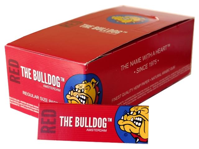3098 - Κουτί με 50 χαρτάκια στριφτού THE BULLDOG RED regular Hemp κανονικό