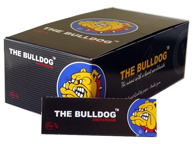 3100 - Κουτί με 50 χαρτάκια στριφτού THE BULLDOG ONE 1&1/4 BLACK Hemp μεσαίο