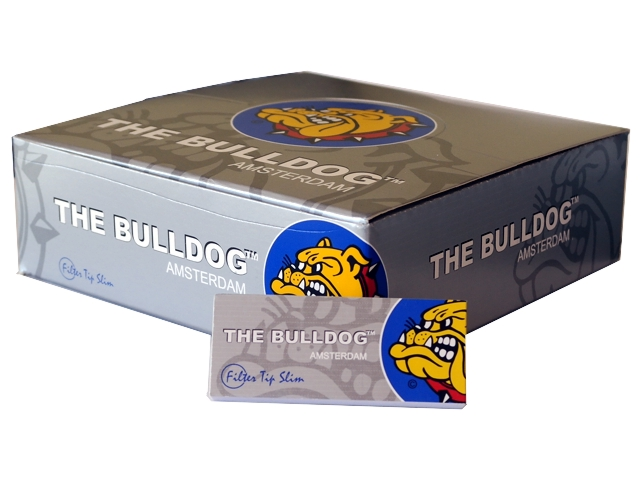 Κουτί με 50 τζιβάνες THE BULLDOG SILVER Filter Tips
