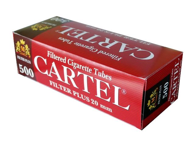 3122 - Άδεια τσιγάρα CARTEL 500 FILTER PLUS 20mm με μακρύ φίλτρο