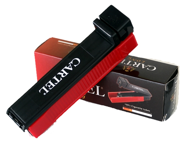 Μηχανή για γέμισμα άδειων τσιγάρων CARTEL LONG (για μακρυά εκατοστάρια άδεια τσιγάρα)