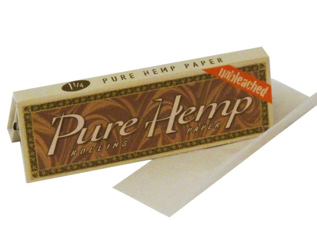 3153 - Χαρτάκια στριφτού Pure Hemp unbleched μεσαίο 1 και 1/4 ακατέργαστο