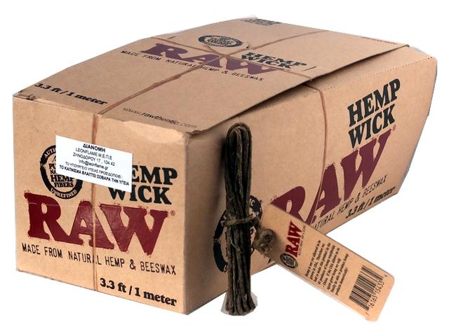 3178 - Κουτί με 60 Raw Hemp Wick 1 μέτρο
