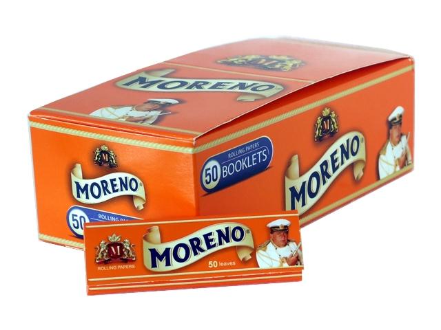 Κουτί με 50 χαρτάκια στιφτού MORENO Orange (πορτοκαλί)