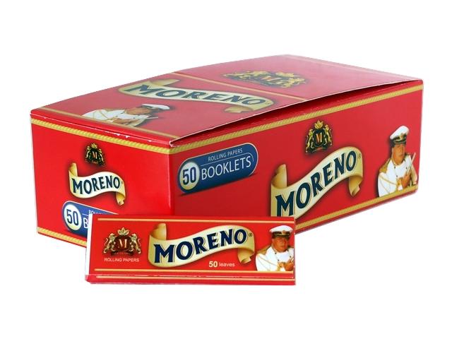 Κουτί με 50 χαρτάκια στιφτού MORENO Red (κόκκινο)