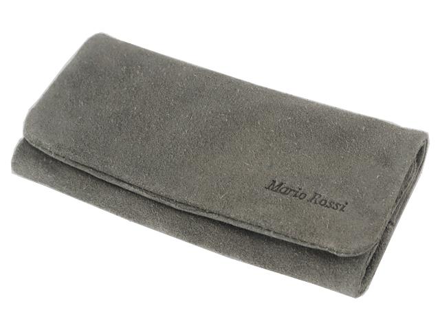 3218 - Καπνοθήκη Mario Rossi GREY δερμάτινη Σουέτ