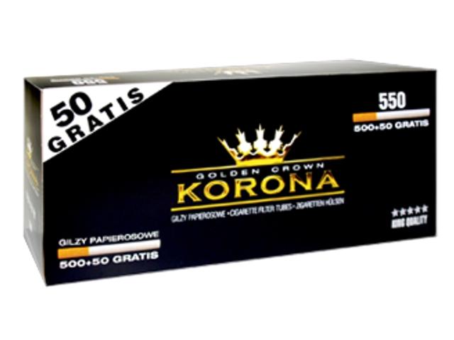 Άδεια τσιγάρα KORONA GOLDEN CROWN KING SIZE 550