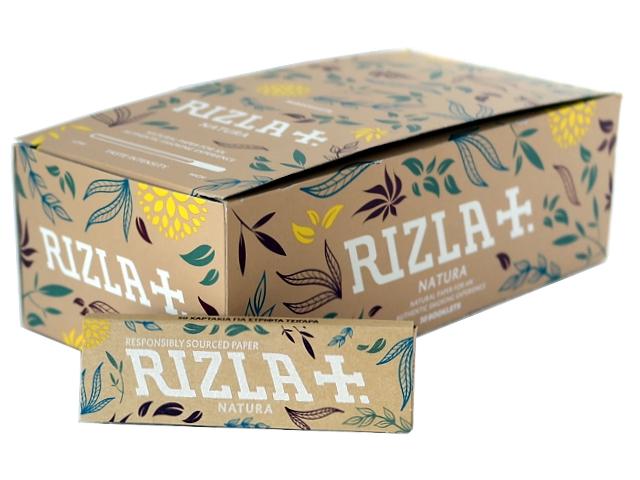 Κουτί με 50 χαρτάκια στριφτού Rizla Natura ακατέργαστα