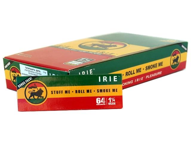 3436 - Κουτί με 24 χαρτάκια στριφτού IRIE μεσαία 1 1/4 Hemp με 64 φύλλα