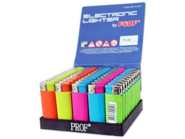 3466 - Κουτί με 50 αναπτήρες ηλεκτρονικούς PROF MINI Smooth Bi Color DL-50 μικρός (τιμή 0.25 ο ένας)