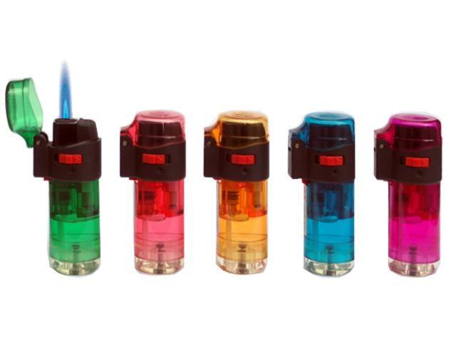 3495 - Αναπτήρας φλόγιστρο αντιανεμικός TOM 11849-01 βαρελάκι σε διάφορα χρώματα