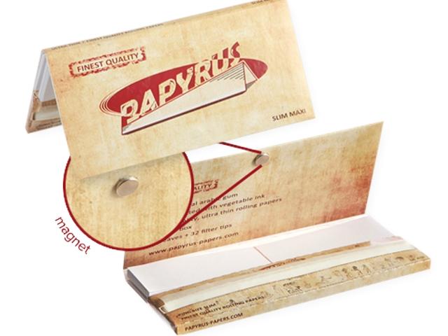 3542 - Χαρτάκια στριφτού PAPYRUS King Size Slim Maxi pack Papers + Tips με μαγνήτη