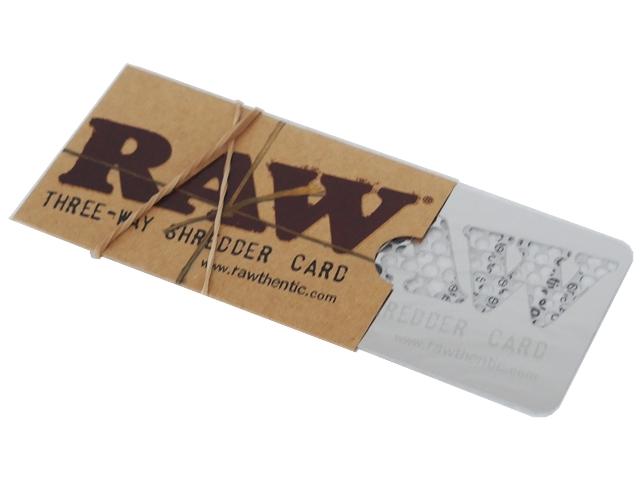 Τρίφτης καπνού RAW Three way Shredder Card