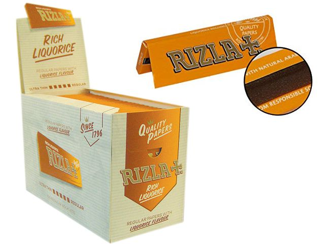 Χαρτάκια στριφτού RIZLA ΓΛΥΚΟΡΙΖΑ κουτί των 100 τεμαχίων (τιμή 0,28 το χαρτάκι)
