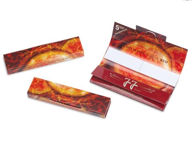 3687 - Χαρτάκια στριφτού JaJa Two in One Red King Size με τζιβάνες