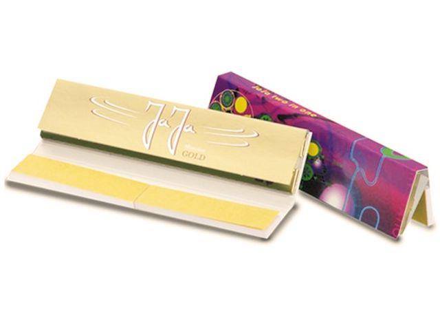 Χαρτάκια στριφτού JaJa Two in One GOLD King Size με τζιβάνες