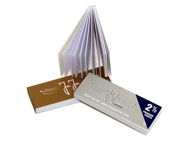 3704 - Τζιβάνες JaJa Filtertips thick booklet silver & gold (χοντρές)