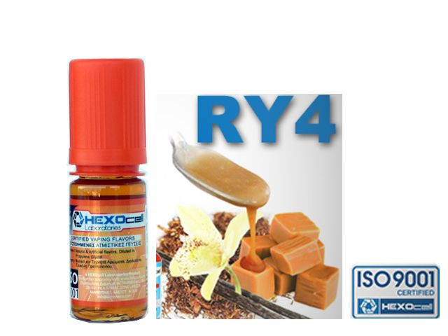 3728 - Άρωμα Hexocell RY4 TOBACCO FLAVOUR 10ml (καπνικό)