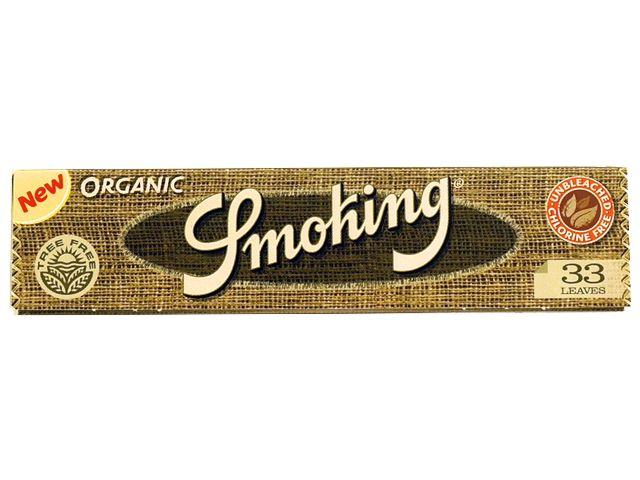 Χαρτάκια στριφτού Smoking ORGANIC KING SIZE 33 φύλλα