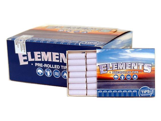 Κουτί με 20 Τζιβάνες προτυλιγμένες ELEMENTS PREROLLED TIPS με 21 τεμάχια