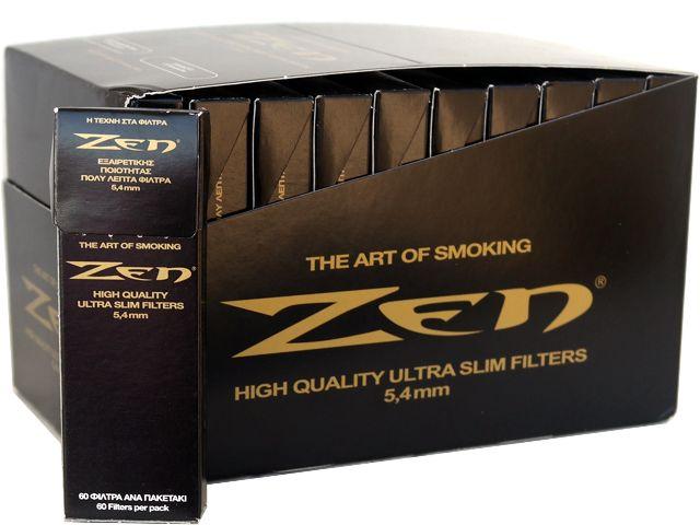 3817 - Κουτί με 30 φιλτράκια στριφτού ZEN BLACK extra slim 5.4 (Κουτί με 30 πακετάκια των 60 μαύρων φίλτρων)