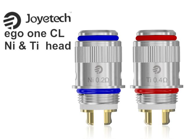 3823 - Ανταλλακτική κεφαλή Joyetech EGO ONE CL Ni 0.25ohm & CL Ti 0.40ohm