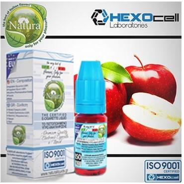 Υγρό αναπλήρωσης Natura RED APPLE by Hexocell 10 ml (κόκκινο μήλο)